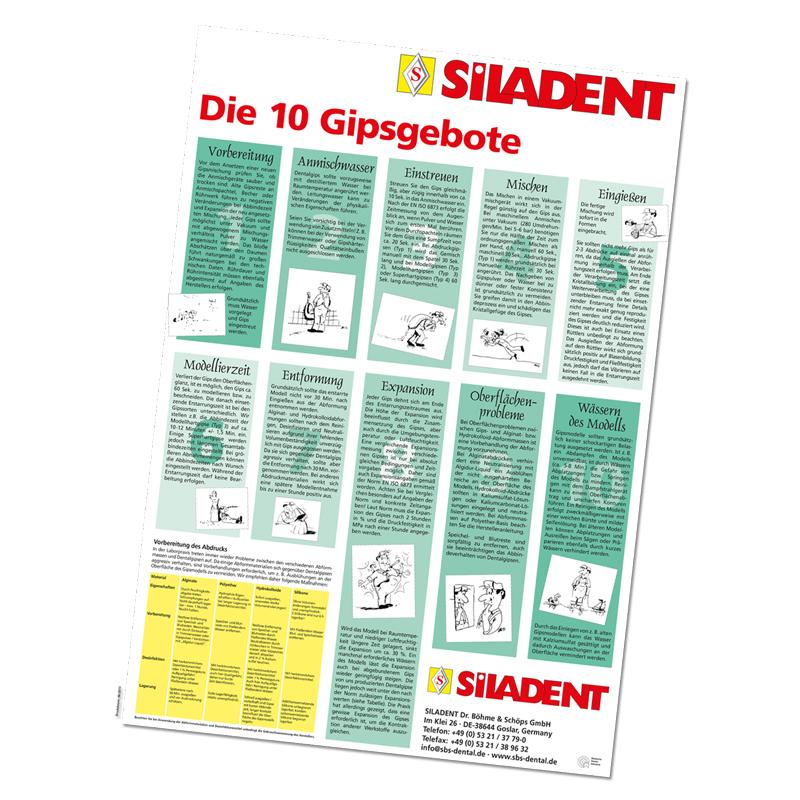 Poster 10 Gips- und Einbettmassengebote