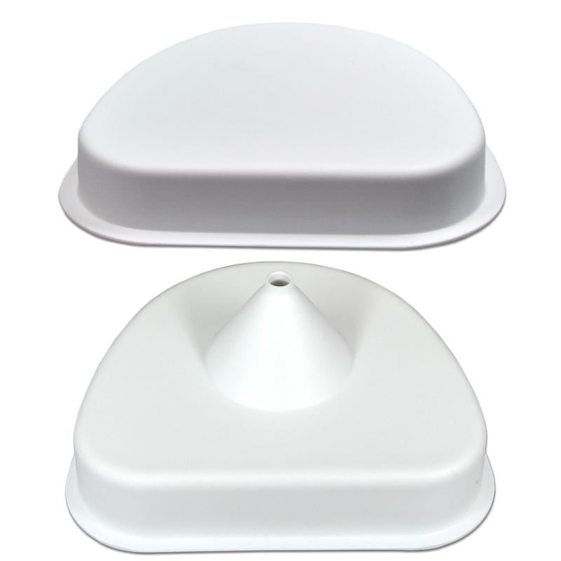 Sockelplatten weiß, Modellform
